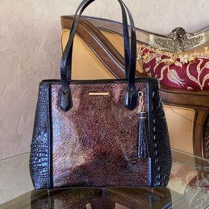 NWT Brahmin florin md Julian handbag leather